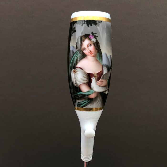 KPM Berlin (scepter mark) - Finely painted pipe with a ladies portrait - Porcelain
