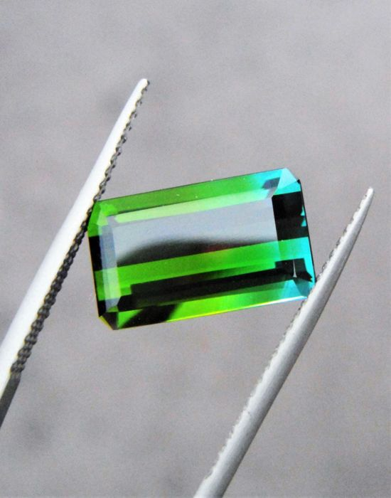 Sininen, Vihreä Bi- Color Tourmaline - 4.25 ct