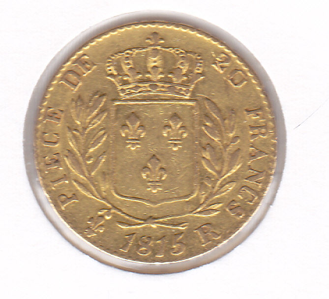 20 Francs 1815 R Louis XVIII  - Or