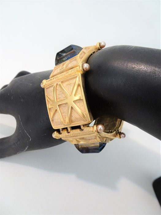 Givenchy - 1980s - XXL Gold Link  Armband