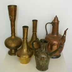 5 Antique Home Decor Items 5 Bronze And Copper Catawiki