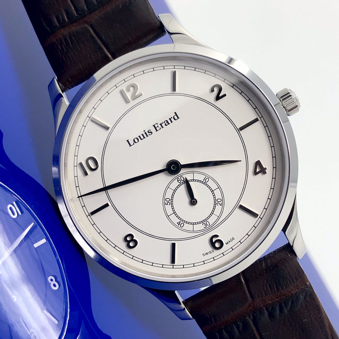 Louis Erard - 1931 Mechanical Slim Watch with Ultra Flat Strap - 47217AA41.BEP01 - Herren - Brand New
