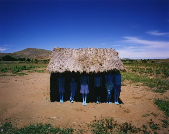 Scarlett Hooft Graafland (1973-)  - Blue people, 2012, Madagascar
