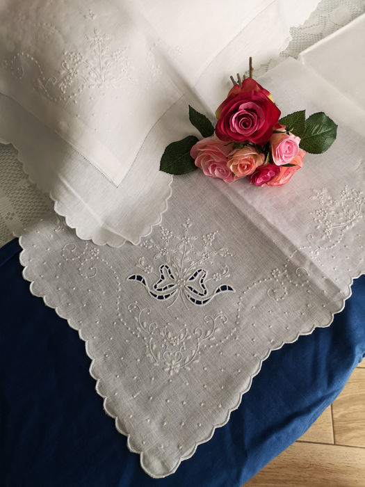 Pure linen flax knit bed sheet and full hand-made - Linen - AFTER 2000