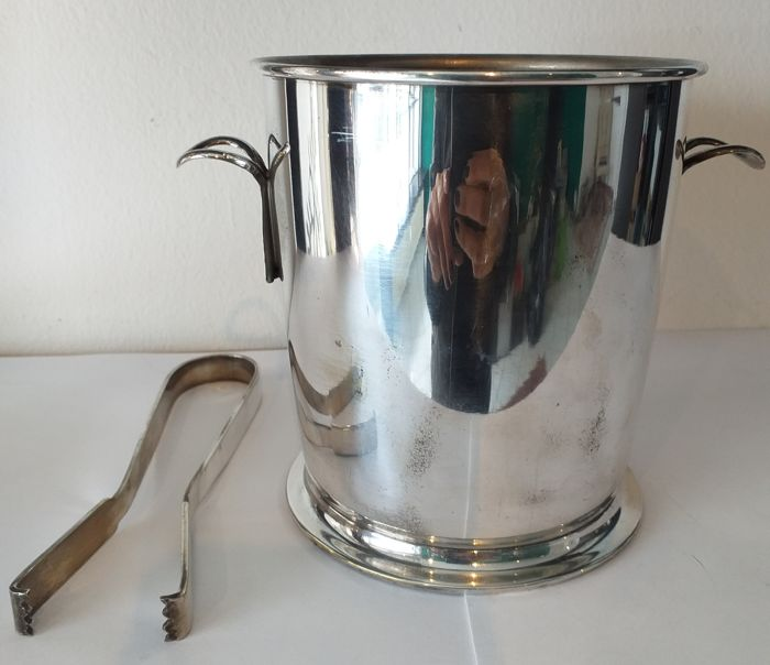 Ice bucket or bottle (1) - Silver plated - Italy - 1950-1999