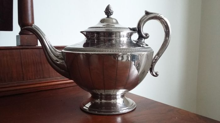 Teapot - Silver plated - Thomas White - U.K. - 1850-1899