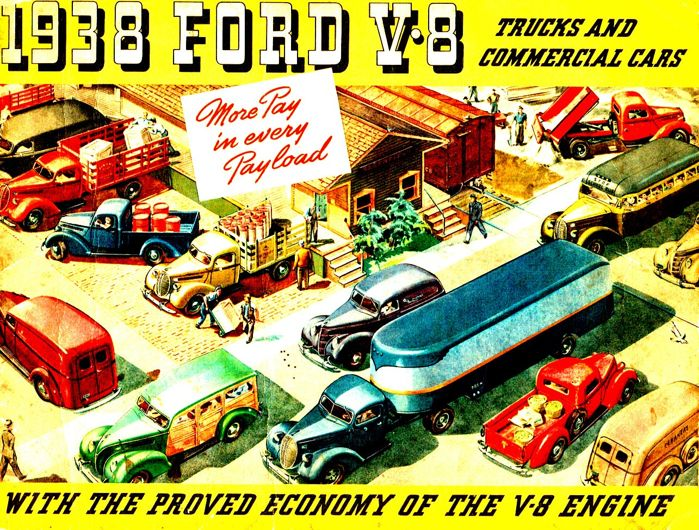 Old advertisements - Ford USA - Utilitaires - 1938-1976 (11 items)