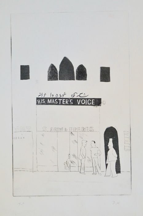 David Hockney - Illustrations for fourteen poems from C.P. Cavafy (10 of 12 etchings)