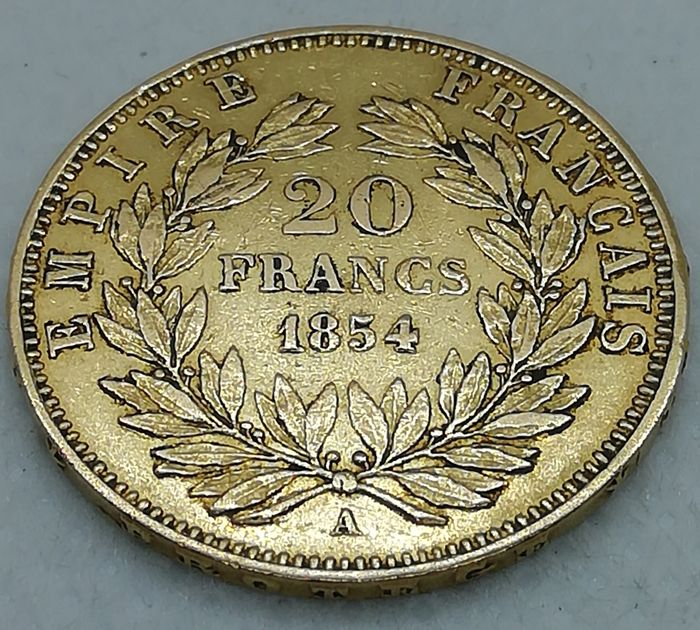 France - 20 Francs 1854-A Napoleon III - Or