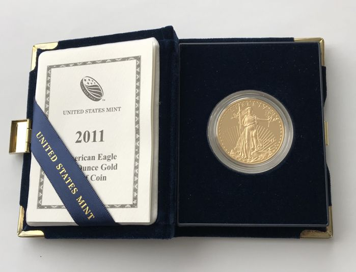 United States - 50 Dollars 2011 - American Eagle Proof - 1 oz  - Gold