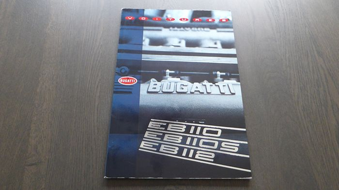 Brochures / catalogues - Bugatti EB110 EB110S EB112 VIP Brochure & Blueprint Sheet  - 1992