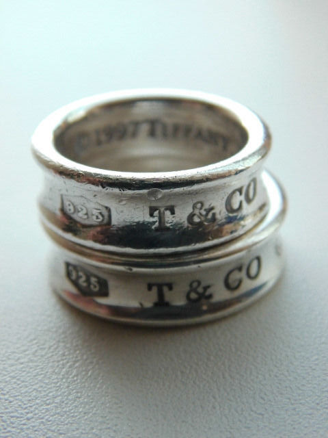 "Lot of 2 Tiffany&Co. ""T&Co 1837"" 1997 ring set - 925 Silber - Ring"