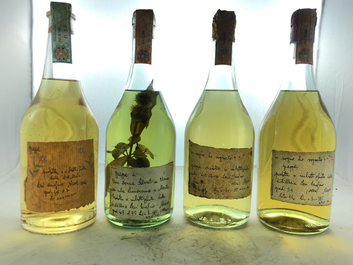 Levi - Grappa - 2003 - 1989 (with erbs) - 1983 - 1984  - 70cl, 75cl - 4 flessen