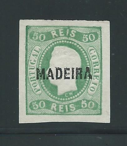 Madeira 1868 - D. Luis I. Curved trim. Imperforated. Certificate - Mundifil 3