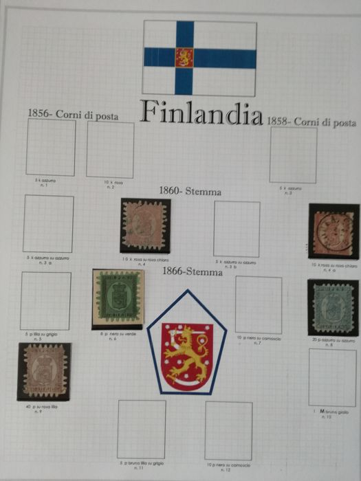 Finlande 1860/1985 - Finland collection from 1860 to 1985 used and hinged, not complete
