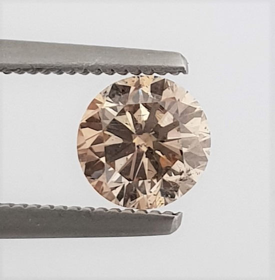 Diamant - 1.00 ct - Brillant - Natural Fancy Champagne - SI1