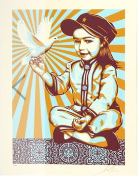Shepard Fairey (OBEY) - Vivi La Revolucion (Blue/Orange Edition)