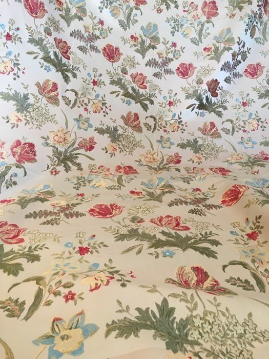 Floral decorations with champagne base and finished in gold - Louis XVI Style - cotton blend - Recently made