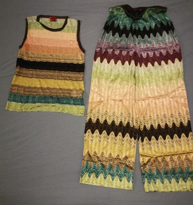 M Missoni - Sleeveless jumper, Trousers - Size: EU 44 (IT 48 - ES/FR 44 - DE/NL 42)