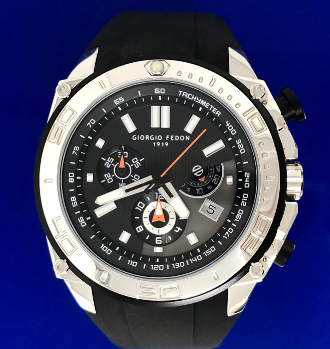 "Giorgio Fedon 1919 - Chronograph Speed Timer Stainless Steel ""NO RESERVE PRICE"" - GFAP001 - Heren - BRAND NEW"
