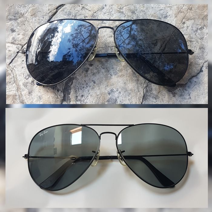 0c9cd2d940 Bausch and Lomb Ray Ban Usa - Aviator Black Chrome - Changeable Blue   Grey  Sunglasses