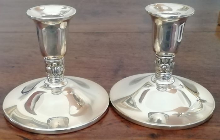 Royal Danish candle holders in sterling silver USA, early 20th century