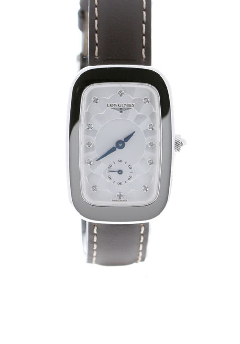 Longines - Equestrian Collection Boucle Quartz Steel Diamond Set Silver Dial Brown Calfskin Strap - L6.142.4.77.2 - Mujer - 2019