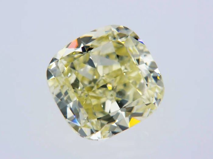 1 pcs Diamante - 1.05 ct - Cojín - fancy yellow - VVS1