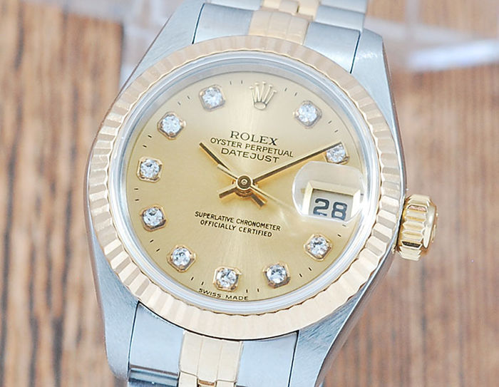 Rolex - Oyster Perpetual DateJust  - 69173G - Femme - 1990-1999