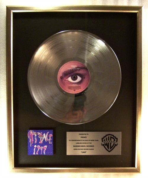 Prince - 1999 Official In-House LP Platinum Record Award - Award, Official In-House award - 1982/1983