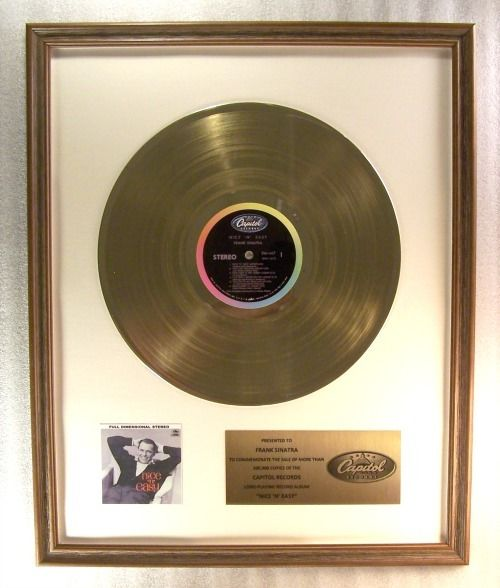 Frank Sinatra - Nice 'N' Easy Official In-House LP Gold Record Award - Official In-House award - 1962/1960