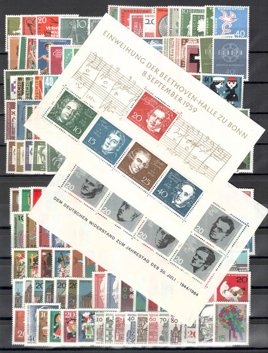 Germany, Federal Republic 1958/2000 - 43 years, complete - Michel 281-2155