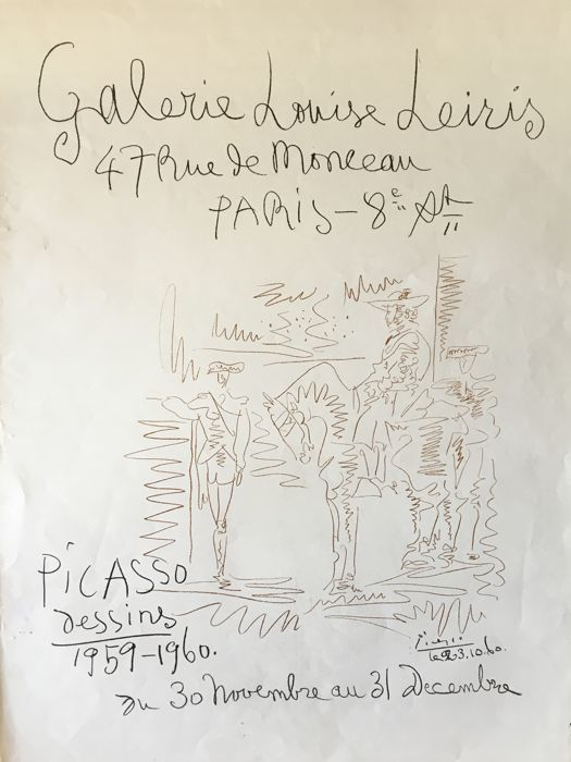 Pablo Picasso - Dessins, Galerie Louise Leiris - 1960 Posters Posters for sale