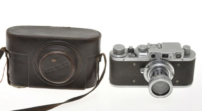 FED , Fed 1 (D - S) NKVD 97028 with 1/1000 and 50/2 Fed rare pre war Leica II copy