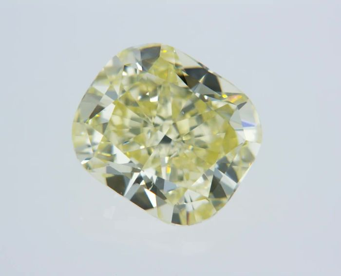 1 pcs Diamante - 1.23 ct - Cuscino - fancy yellow - VS1