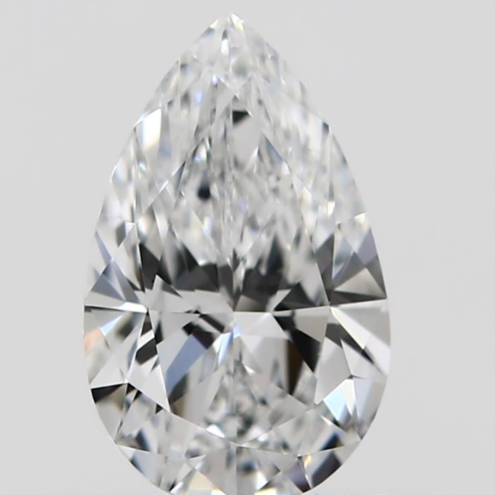1 pcs Diamant - 0.45 ct - Peer - D (kleurloos) - VVS1