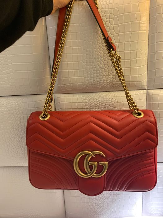 2be62cec48fe19 Gucci - Marmont large Crossbody bag - Catawiki