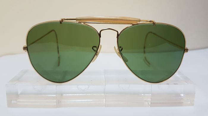 726ffe2169 Bausch and Lomb Ray Ban Usa - Aviator Outdoorsman RB3 1970 s Sunglasses