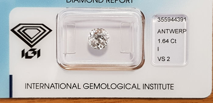 1 pcs Diamante - 1.64 ct - Brillante - I - VS2