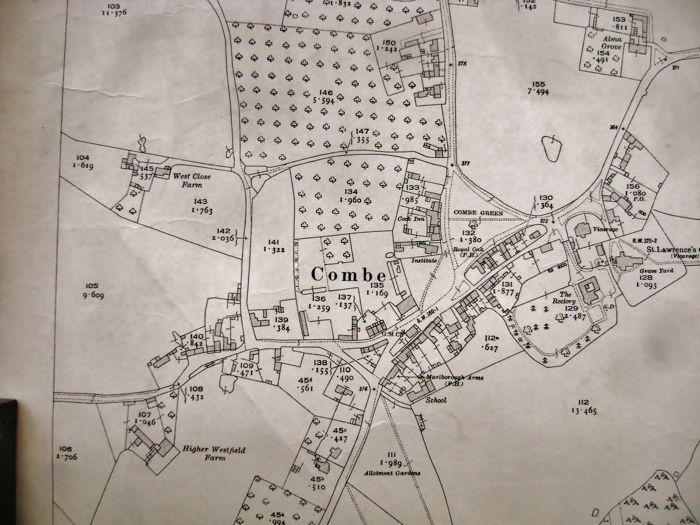 Reino Unido, Blenheim Palace Park, Woodstock/Combe, Oxfordshire; The Director General at the Ordnance Survey Office - Land Register Map of the Grounds of Blenheim Palace Park & the Parish of Combe - 1922