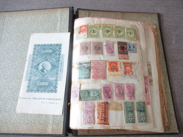 Wereld - Significant collection of classic fiscal stamps VOL 1