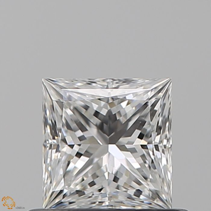 1 pcs Diamante - 0.57 ct - Princesa - D (incoloro) - IF (Inmaculado)