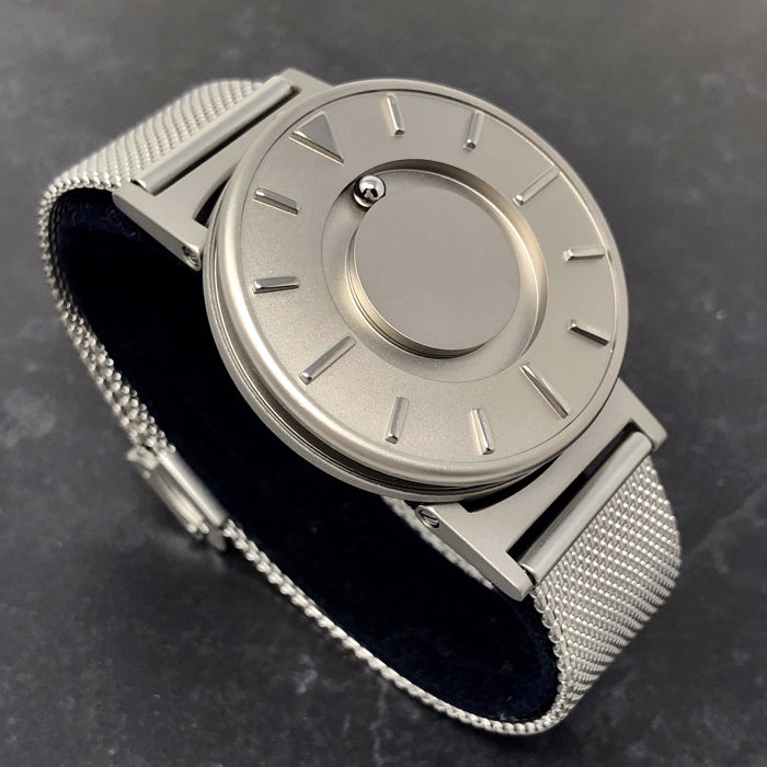 "Eone - ""NO RESERVE PRICE"" Bradley Titanium Silver Mesh Stainless Steel Strap Swiss Movement  - BR-C-MESH ""NO RESERVE PRICE"" - Unisex - 2011-heute"