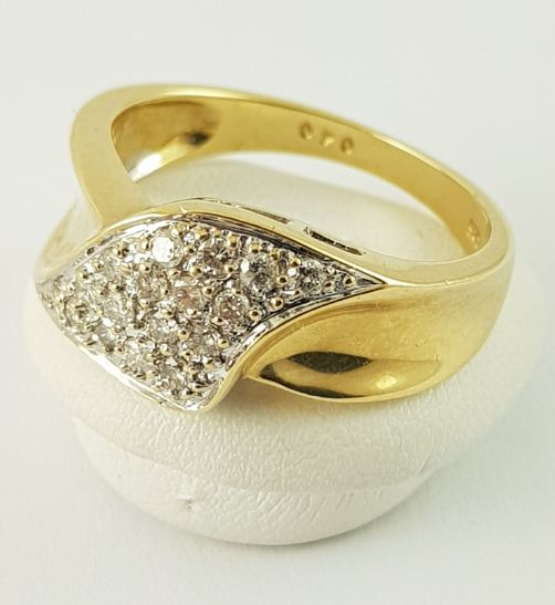 14 kt. Yellow gold - Ring - 0.34 ct Diamond