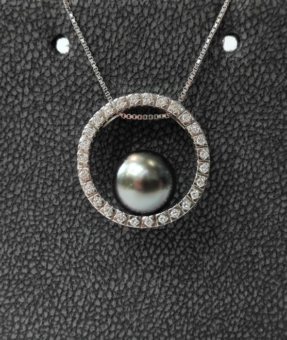 18 kt. White gold - Necklace with pendant Mixed - Diamond
