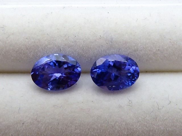 2 pcs  Tanzanite - 1.67 ct
