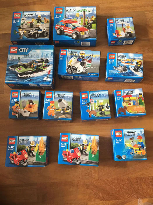 LEGO - City - 60114, 5610 to 5612, 60001 and otherrs - Small sets