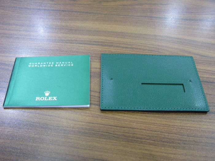 Rolex - Green leather wallet  and Guarantee manuel - Men - 2011-present