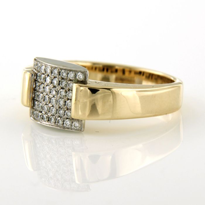 14 karat Gulguld, Hvidguld - Ring - 0.30 ct Diamant