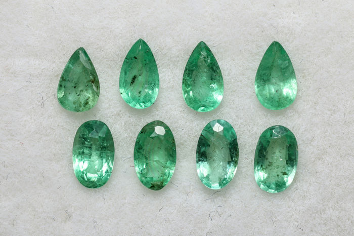 8 pcs  Emerald - 1.47 ct